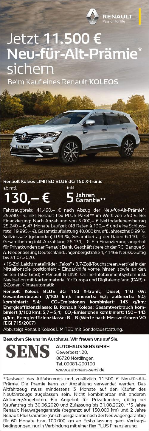 11.500€ Neu-für-Alt-Prämie