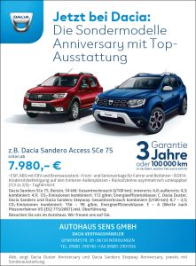 Die Dacia Sondermodelle Anniversary