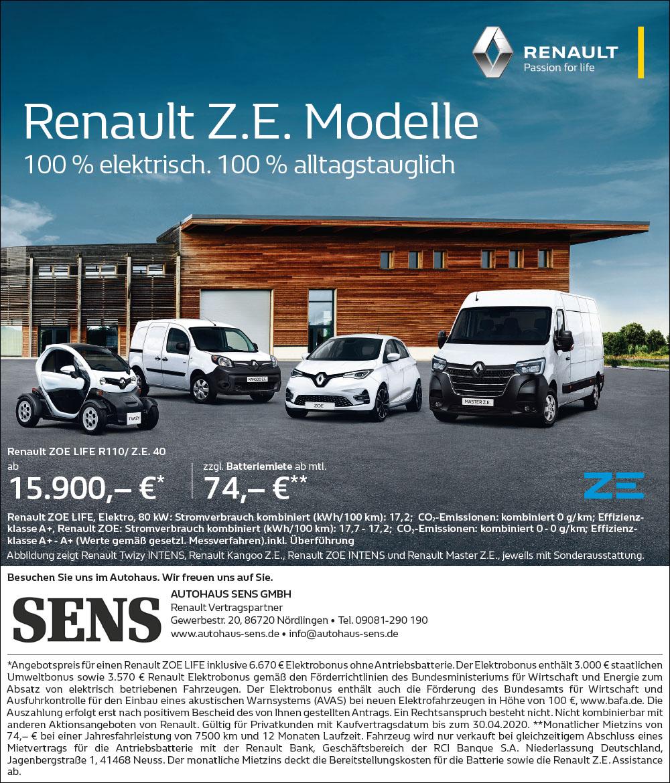 Renault Z.E. Modelle