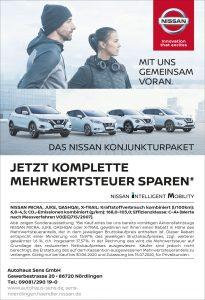 Nissan – Jetzt komplette Mehrwertsteuer sparen!