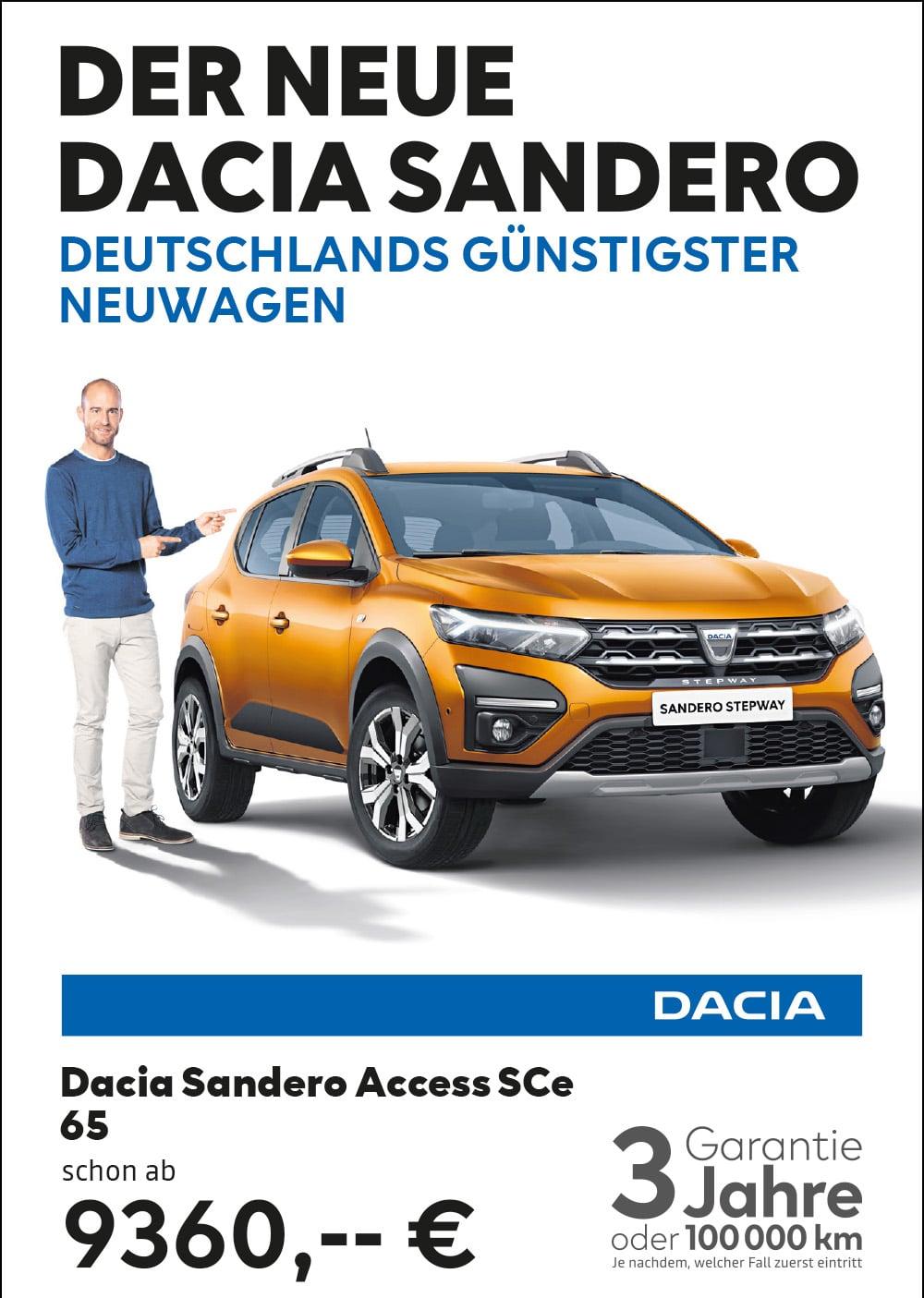 Der neue DACIA Sandero