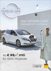 Der NISSAN LEAF – Jetzt elektronisch durchstarten