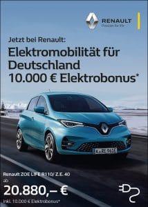 Elektromobilität für Deutschland: 10.000 € Elektrobonus