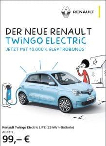 Read more about the article Der neu RENAULT TWiNGO ELECTRiC – Jetzt mit 10.000€ Elektrobonus